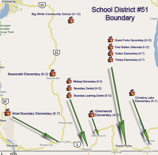 SD51 Schools Map